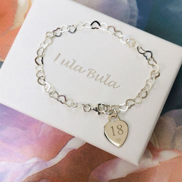 18th birthday  gift bracelet - FREE ENGRAVING